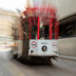 Tram con zooming
